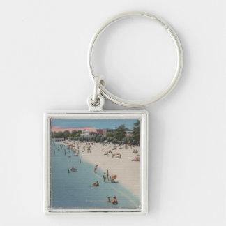 Playa colonial, VA - escena que toma el sol y que  Llaveros