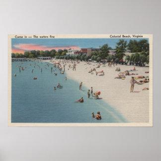 Playa colonial, VA - escena que toma el sol y que  Impresiones