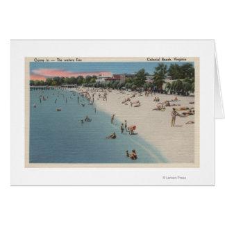 Playa colonial, VA - escena que toma el sol y que  Felicitación