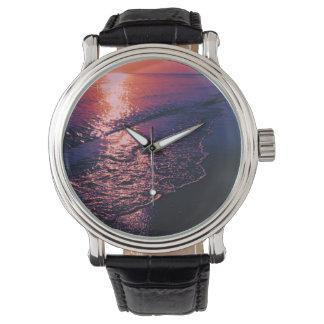 Playa, colores alterados 04 relojes de pulsera