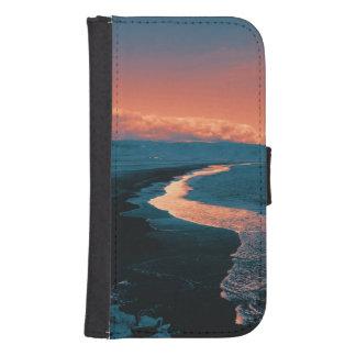 Playa, colores alterados funda billetera para teléfono