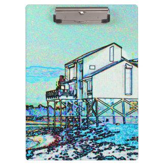 playa colorida del bosquejo llano partido de la ca