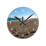 Playa con cita reloj