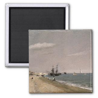 Playa con los mineros, 1824 de Brighton Imán Cuadrado