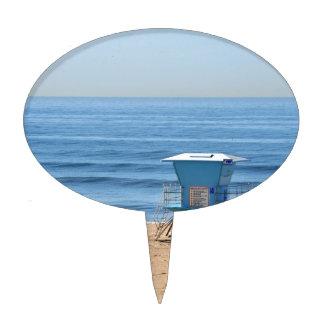 Playa con una cabina de Baywatch Decoraciones Para Tartas