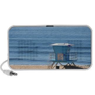 Playa con una cabina de Baywatch iPod Altavoces