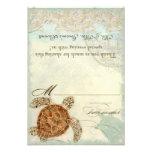 Playa costera de la tortuga de mar - tarjetas del  anuncio personalizado