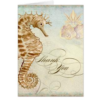 Playa costera del caballo de mar - gracias las tar tarjeta