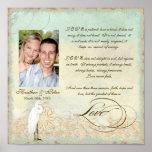 Playa costera del gran Egret - boda personalizado Posters