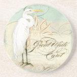 Playa costera del gran Egret - prácticos de costa  Posavaso Para Bebida