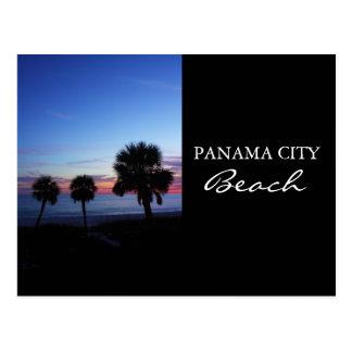 Playa crepuscular de ciudad de Panamá de la puesta Tarjetas Postales