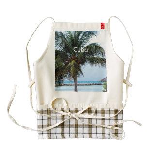 Playa cubana delantal zazzle HEART