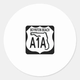 Playa de A1A Boynton Pegatina Redonda