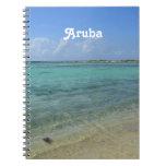 Playa de Aruban Libreta Espiral