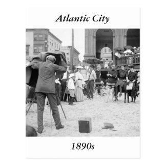 Playa de Atlantic City, 1890s Tarjeta Postal