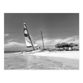 Playa de B&W La Habana Tarjeta Postal