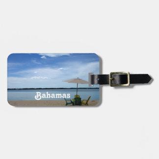 Playa de Bahama Etiqueta De Maleta