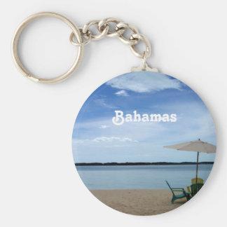 Playa de Bahama Llavero Redondo Tipo Pin
