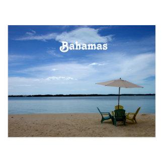 Playa de Bahama Tarjeta Postal