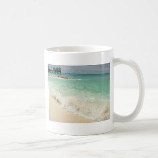 Playa de Bahama Taza Básica Blanca