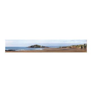 Playa de Bantham e isla del municipio escocés Impresión En Lienzo