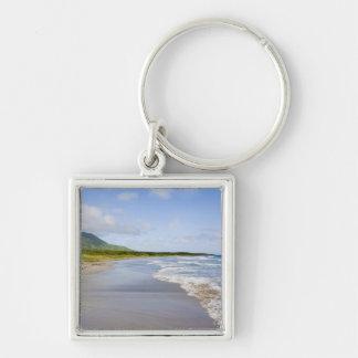 Playa de barlovento, Nevis Llavero Cuadrado Plateado