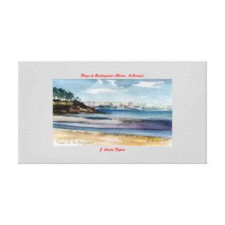 Playa de Bastiagueiro (Oleiros. A Coruña) Impresion De Lienzo