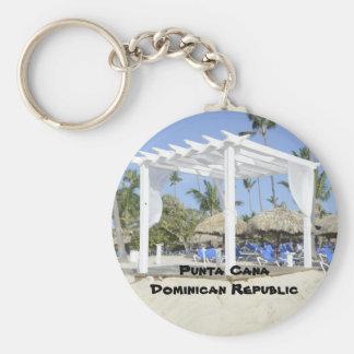 Playa de Bavaro en la isla de Punta Cana Llavero Redondo Tipo Pin