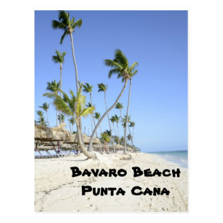 Playa de Bavaro en la isla de Punta Cana Postal
