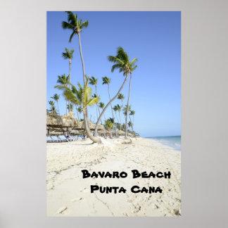 Playa de Bavaro en la isla de Punta Cana Póster