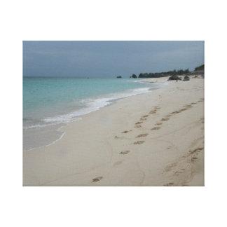 Playa de Bermudas Impresión En Lienzo Estirada