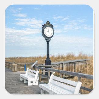 Playa de Bethany, Delaware Pegatina Cuadrada