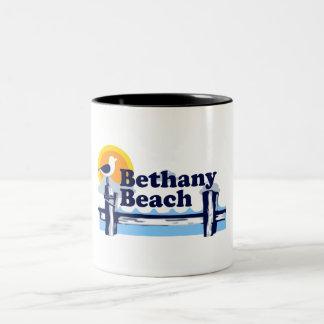 Playa de Bethany Taza De Café De Dos Colores