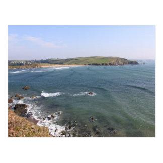 Playa de Bigbury, Devon de Bantham Tarjeta Postal