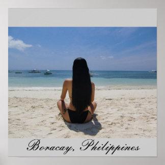 Playa de Boracay Póster