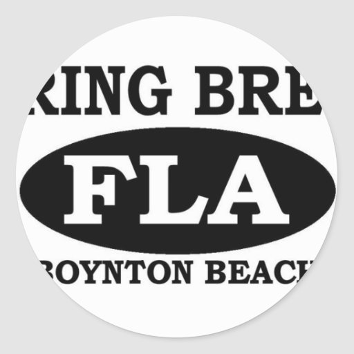 Playa de Boynton de las vacaciones de primavera Pegatina Redonda
