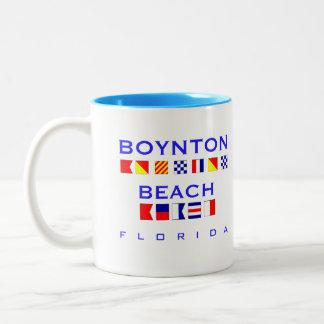Playa de Boynton, FL - deletreo náutico de la Taza De Dos Tonos