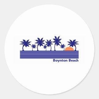 Playa de Boynton, la Florida Pegatina Redonda