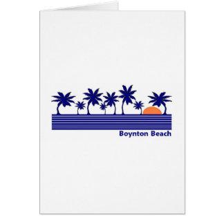Playa de Boynton, la Florida Tarjeta De Felicitación