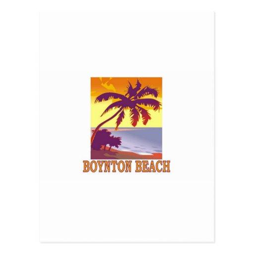 Playa de Boynton, la Florida Tarjeta Postal