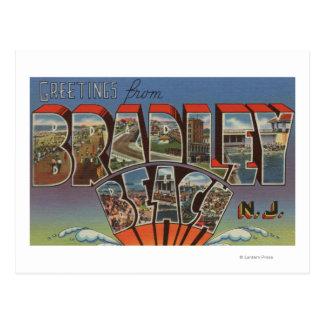 Playa de Bradley, New Jersey - escenas grandes de Postales