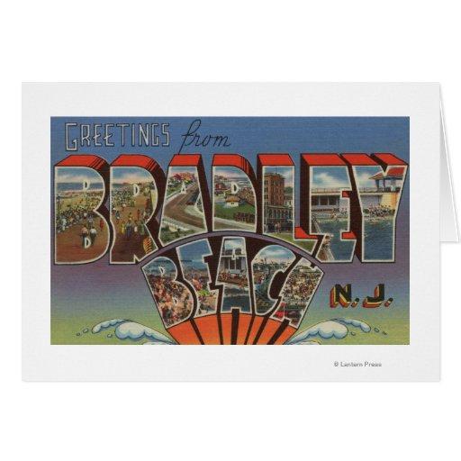 Playa de Bradley, New Jersey - escenas grandes de  Tarjeta De Felicitación