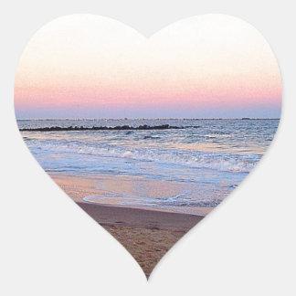 Playa de Brighton Pegatina En Forma De Corazón