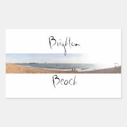 Playa de Brighton Rectangular Pegatina