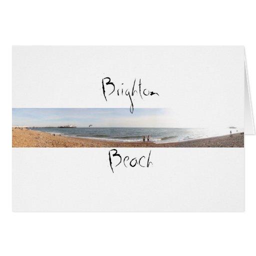 Playa de Brighton Tarjeta De Felicitación