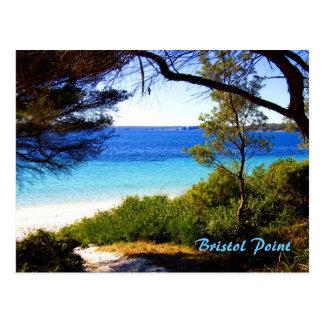 Playa de Bristol, punto de Bristol Tarjeta Postal