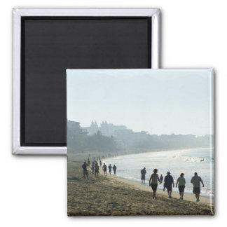 Playa de Bucerias por la mañana Imán Cuadrado