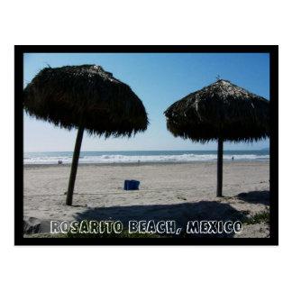 Playa de CA Rosarito, playa de Rosarito, México II Tarjeta Postal