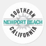 Playa de California meridional - de Newport Etiquetas Redondas