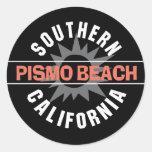 Playa de California meridional - de Pismo Pegatina Redonda